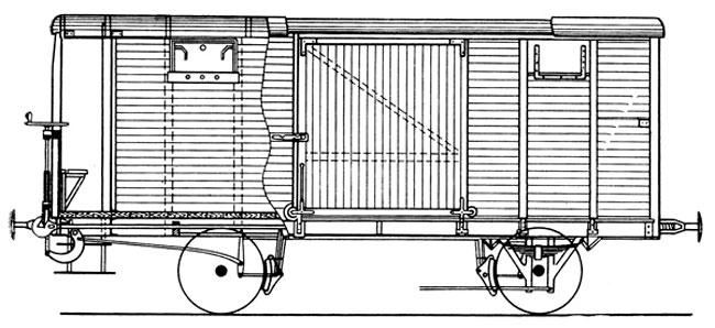 товарный вагон (схема)