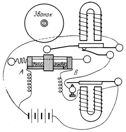 Схема 'прибора для обнаружения